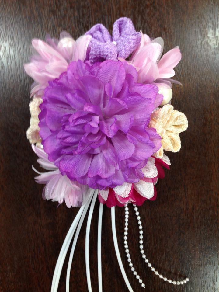 髪飾り(紫)
